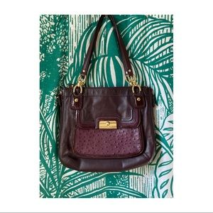 Authentic COACH Kristen leather ostrich handbag